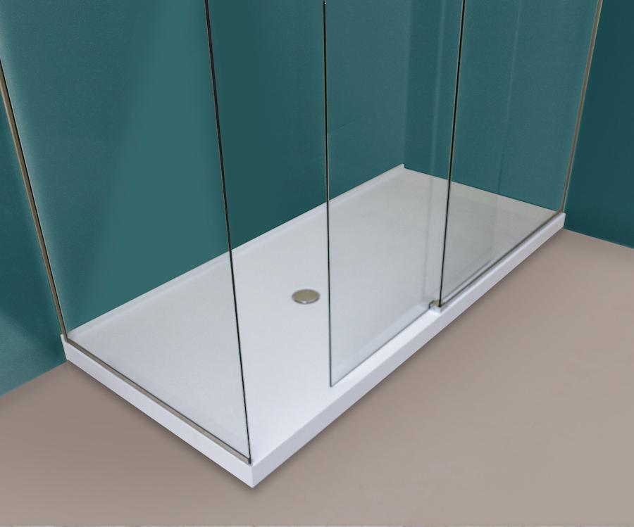 Piatti doccia in corian sottilissimi tecnomobili - Piatto doccia a filo ...