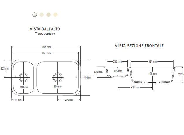 Tecnomobili collezione standard - Lavello cucina dimensioni ...